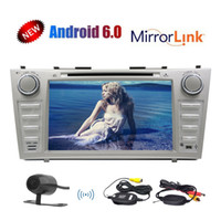 Wholesale video systems for cars online - Einca Android System In Dash Double Head Unit GPS Car Stereo FOR Toyota Camry Car DVD CD Player Bluetooth WIFI