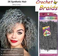 Wholesale Kinky Curly Synthetic Weave - 3 bundles lot Savana 3X Braid hair 10inch freetress water wave hair kinky curly hair Synthetic Crochet Braids wand curly prelooped weave