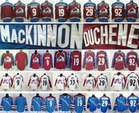 Wholesale gabriel landeskog jersey - 2018 New Colorado Avalanche Ice Hockey 9 Matt Duchene 19 Joe Sakic 29 Nathan MacKinnon 92 Gabriel Landeskog Red Blue White Jersey