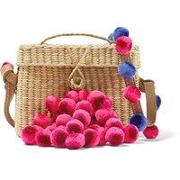 yünlü poşetler toptan satış-Sydney'in ayarlanabilir yün hasır dokuma çanta Moda bayan hasır çanta satıyor
