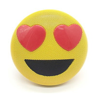 Wholesale mp3 game player for sale - Mini Portable Emoji Emoticon Bluetooth Speaker with Stereo Bracket Sport Handsfree Audio Support Bluetooth USB AUX MP3 Game good quality