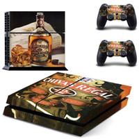 peles de vinil ps4 venda por atacado-Jack Daniels Para PS4 Console Adesivos Para Sony PlayStation 4 Sistema de Console de Vinil Decalque Design Para DualShock 4 Controlador Skins
