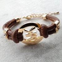Wholesale Gold Bracelet Twisted Rope Chain - Bracelets PU rope Retro bracelet 12 colors to choose