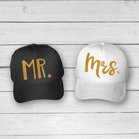 brautduschengeschenke braut großhandel-MrMrs Braut- und Bräutigam-Glitter-Fernlastfahrer-Hutkappen Bachelorette-Hochzeitsbevorzugungsgeschenk-Brautparty-Partydekorationen