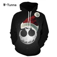 Wholesale naturals themes - 2017 Newest 3d Print Christmas Halloween Skull Theme Pullover Hoodies For Women  Men Causal Loose Plus Size Sweatshirts Femme