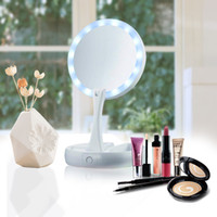 Wholesale Plastic Health - Hot Selling My Fold Away LED Mirror Care Professional Mirror with Light Health Beauty Adjustable Portable Lady Women Makeup Tool