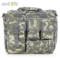 Wholesale Military Laptop Messenger Bag - Outlife Outdoor Fishing Military Tactical Bag Computer Shoulder Bags Rucksack Handbag Briefcase for Hiking 14 inch Laptop Camera