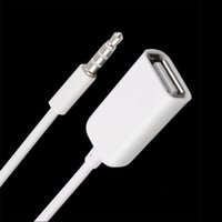 mp3 usb cordon aux achat en gros de-3.5mm mâle AUX Audio Plug Jack à USB 2.0 Femelle Convertisseur Cord Cable Car MP3