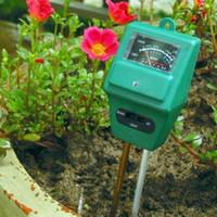 gleichstromdraht großhandel-3 in 1 PH Tester Boden Wasser Feuchtigkeit Licht Analized Test Meter Detektor Gartenpflanze Blume PH Meter