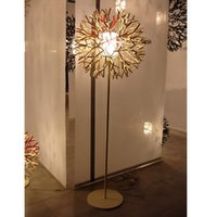Wholesale Black White Tree Art - Art Decoratoin Metal Floor Lamp Creative White Coral Shape Tree Bedroom Light Living Room Light Free Shipping