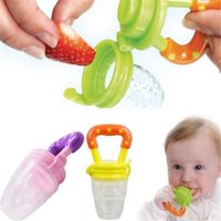 Wholesale Nipple Cupping - Cheapest!!! fresh Fruits Food Feeder Silicone Baby Pacifier Infant Nipple mini Feeding bottle juice cup for kids