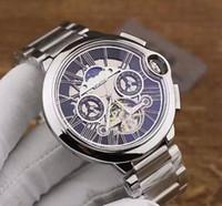 uhr mode farben großhandel-2018 Top-Qualität neue Marke automatische Herrenarmbanduhr NAVITIMER schwarzes Zifferblatt blaues Leder 1884 Mode männliche Uhr Uhren 6 Farben