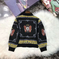 Wholesale boys corduroy coats - 2d79 Boys New autumn Outerwear Thick Kids Clothes Children coat Embroidered pattern on top