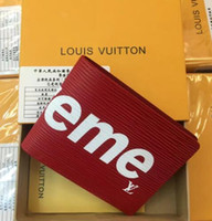 Wholesale Leather Man Clutch Bags - 2018New designer Fashion Tote AAA wallet High Quality Leather luxury Men short Wallets Famous Brand for women Men purse Clutch Bags with box