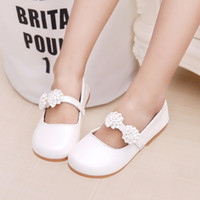 Wholesale Leather Dress For Baby Girl - Hot Baby Children Shoes For Girls Princess Lovely flowers Fashion Kids Leather Dress Shoes For Girls Size Eu26-36