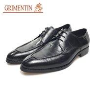 venda de calçados casuais de negócios venda por atacado-GRIMENTIN Hot sale marca mens sapatos designer de moda italiana oxford sapatos de couro genuíno formal business casual masculino sapatos