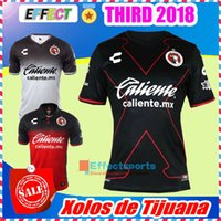 Wholesale Corona Black - TOP QUALITY 17 18 Mexico Club LIGA MX 3rd Xolos de Tijuana 2018 Charly Third Home away Soccer Jersey Black CORONA LUCERO football shirt