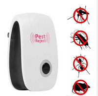 ultrasonik böcek kovucusu toptan satış-Pest Kontrol Ultrasonik Haşere Kovucu Fare Kovucu Tak - Fareler için Pest Kovucu Sivrisinek Kovucu, Rat, Bug, Tahtakurusu, Örümcek, Roach, An