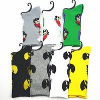 Wholesale leaf fashion - MOQ10pairs Socks WU Tang & CHEECH CHONG leaf cotton socks men women Street Socks Fedex free shipping