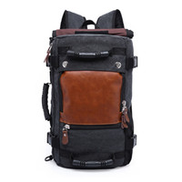 large double shoulder travel bags canvas backpack luggage bags best travel  bags for men wholesale and retail a153972b41c3d