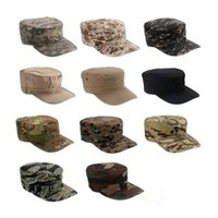 Wholesale Army Acu - Outdoors Mens Camping Hiking Sun Fishing Hat Tactical Army US Camouflage Marines Hats Combat Paintball Caps ACU Tan Multi Color