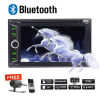 Wholesale camera av out - Double Din Stereo Car DVD Player AM FM Radio Bluetooth 6.2'' Multimedia Player USB SD AUX-IN AV Out Subwoofer Rear Camera Remote