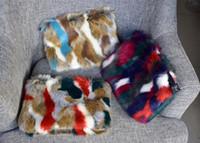 faux fur clutch bags NZ - Luxury designer handbag envelope small evening party bags faux fur ladies day clutch patchwork women shoulder handbag and purse