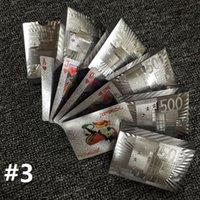 tarjetas de papel de oro al por mayor-Nueva llegada 11 diseños Gold Foil Silver Foil Plated Naipes Regalo de alta calidad de la tarjeta de póker del juego del ocio al por mayor 100Sets