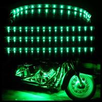 grüne led-streifen auto großhandel-4 Stücke Grün 30 CM 15 LED Automotoren Lkw Flexible Streifen Licht Wasserdichte 12 V Auto Dekorative Zubehör Neuheiten
