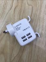 adaptadores de corrente alternada usados venda por atacado-4 USB Multi Portas Universal Adaptador De Viagem de Parede AC Carregador UK / UE / EUA / AU Plug Uso Interno apenas de Alta Qualidade para telefones inteligentes