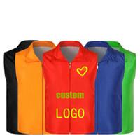 Wholesale wholesale vest jacket men - Advertising waistcoat customized volunteer work garment jacket activity vest t-shirts for wholesale printing LOGO