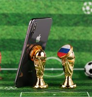 Wholesale magnetic world - 2018 World Cup Football Car Holder Magnet Magnetic Cell Phone Holder Universal For iPhone 6 6s 7 GPS Bracket Stand