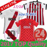 Wholesale Rivers Red - size S - XXL 2017 2018 River Plate third away Soccer Jerseys 17 18 SCOCCO CASCO home MARTINEZ AWAY RED PEREZ FERNANDEZ FOOTBALL SHIRTS
