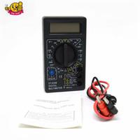 Wholesale lcd auto range multimeter - Auto Range LCD Digital Multimeter Tester Meter Voltmeter Ammeter AC DC Current Ohm DT830B Black Electrical Tester Meter DT830B