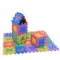 ingrosso stuoia di tappeto musicale-Commercio all'ingrosso 36pcs Morbido EVA Schiuma Play Mat Numeri Lettere Bambino Bambini Bambini che giocano a tappeto Crawling Pad Giocattoli Pavimento infantile Pad Puzzle