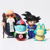 Wholesale free goku toys for sale - Group buy Dragon Ball Sun Goku Pilaf Puar Master Roshi PVC Action Figure Model Collection Toy Doll set cm