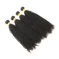 Wholesale hair full head curly weaves - Unprocessed Malaysian Virgin Curly Hair Extensions 4 Bundles 100% Real Malaysian Human Hair Weave Natural Black Full Head Free Shipping