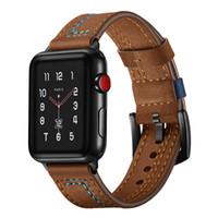 ingrosso parole di mela-Apple watch watch band apple watch1 / 2/3 primo strato in pelle pazza di cavallo pazzo stile 7 parole