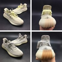 Wholesale neon black - Wailly Top 350 V2 Runner v1 Sply 350 Sesame Butter Kanye West Shoes Blue Tint Neon Oreo Zebra with gum outsole sneakers
