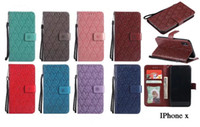 Wholesale galaxy s4 luxury - Retro Leather Wallet Card Slot For iphone X 8 Plus 7 7Plus 6 6S plus Galaxy S8 Plus S7 S6 S5 S4 Note 8 Luxury Flip Cover Pouches