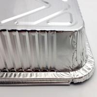 churrasqueiras descartáveis venda por atacado-marmita descartável branco folha de estanho com tampa de folha de alumínio de espessura barbecue baking caixa de takeaway mx5091 descartável refeição