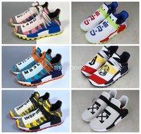 china de sapato venda por atacado-2018 Corrida humana Pharrell x Hu Trail Pharrell Williams Runner Tênis para mulheres dos homens China Feliz PW HU Holi MC Limitada Chaussures