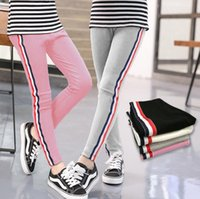 Wholesale Kids Girl Pants New Fashion Sports Leggings for Girls Solid Color Pencil Pants Kids Leggings Pants Kids Sport Trousers Outwear