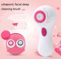 brossage de la peau du visage machine france achat en gros de-Électrique imperméable à l'eau de charge visage lavage brosse nettoyante peau faciale vibration ultrasonique nettoyage en profondeur brosses