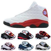 Wholesale Pure Races - 2018 Best Air Retro 13 Men basketball shoes Low Chutney Navy blue Pure Money Chicago black cat DMP gold Barons Flint He Got Game Sneakers