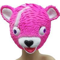 2 colori gioco Fortnite rosa blu orso maschera 2018 nuovi bambini festa di  halloween per adulti cosplay naturale in lattice copricapo maschere  giocattoli b e225bb645af5