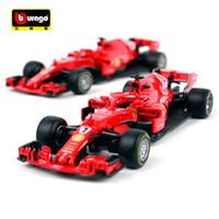 carros com diecast venda por atacado-Bburago 1:43 F1 2018 SF 71-H Fórmula Um Corrida S Vettel 5 # K Raikkonen 7 # Diecast Model Car Toy Novo Na Caixa Frete Grátis 36809