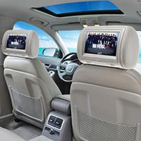 ingrosso tv headrests auto-9 pollici schermo digitale auto poggiatesta monitor auto universale poggiatesta auto lettore DVD con USB SD MP5 VCD CD MP3 MP4 JPEG TV