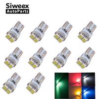 grüne led-blinker großhandel-T5 LED Armaturenbrett Instrument Anzeigelampe Geschwindigkeit Keil 3528 LED 2SMD Weiß Rot Grün Blau Gelb PC74 12V Auto Lampe