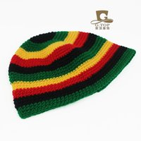 Cappellino crochet berretto invernale lavorato a mano cappelli crochet  berretti beanie Jamaica cappelli hip hop Bob Marley Rasta Reggae cappelli e752c8f9787f